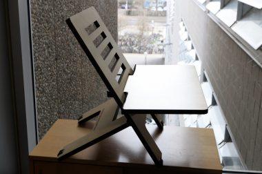 Mobile Stehpulte zum Ausleihen in der KIT-Bibliothek